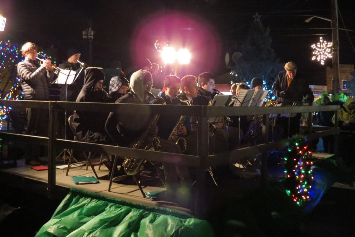 Chaminade High School students orchestra performing outdoors