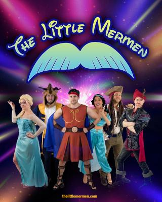 The Little Mermen logo over six band members dressed as Disney characters